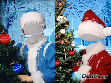 Детские новогодние костюмы - Дед мороз и снегурочка!