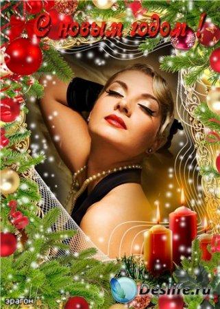 Рамочка для фотошопа – Новогоднее сияние