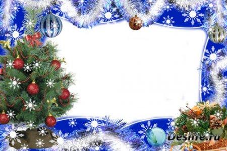 Новогодняя рамка для фотошопа – Новогодняя нежность