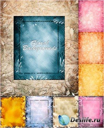 Фоны - Цветочные фоны с декоративными узорами