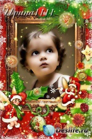 Рамка для фотошопа - Рождественские феи