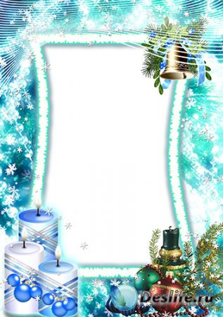 Новогодняя рамка для фото – Три свечи