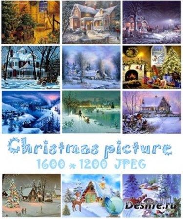 Рождественские картинки к новому году