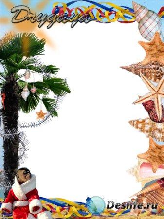 Рамка для фотошопа - Новый год по-южному