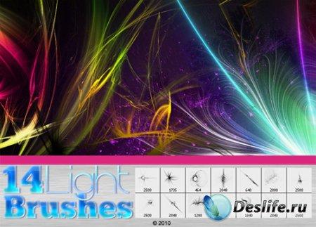 Кисти для фотошопа – Light streak brushes 2010