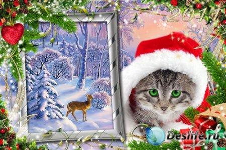 Новогодние рамочки для фото - Очарование зимнего праздника