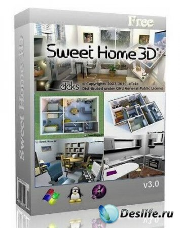 sweet home 3d 3 0 rus windows linux mac os x. Black Bedroom Furniture Sets. Home Design Ideas