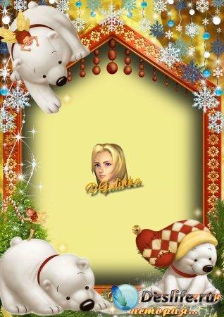 Рамка для фотошопа - Рождественская история
