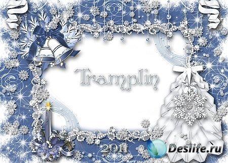 Рамка для фотошопа – Рождественские Колокольчики