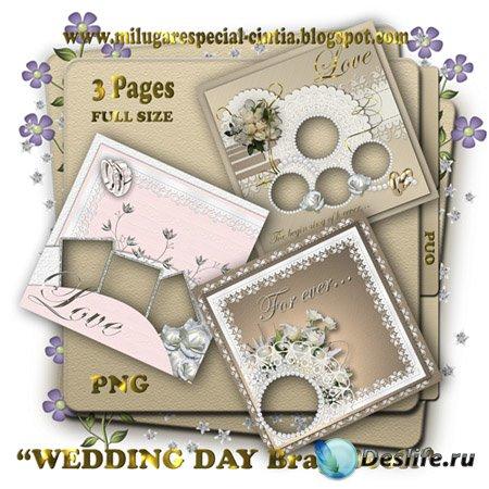 Скраповые рамки - Свадебный день