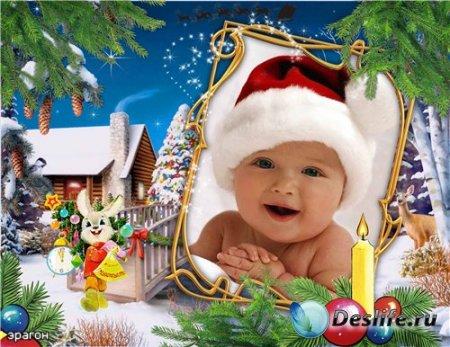 Новогодняя рамочка для фотошопа – Детская мечта
