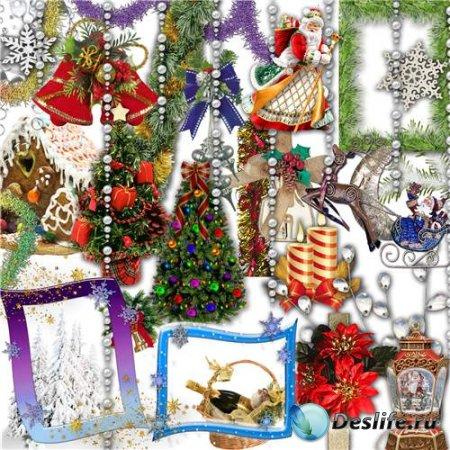 Рождественский PNG клипарт с прозрачным фоном