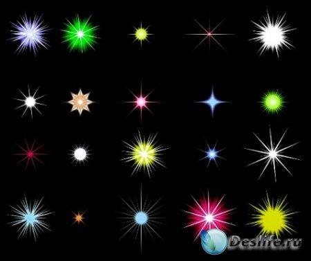 Звезды и блики - Векторный клипарт