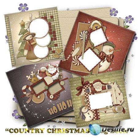 Скрап рамки - Рождественская книга