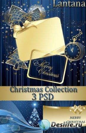 PSD исходники  для фотошопа - Новогодняя коллекция № 18