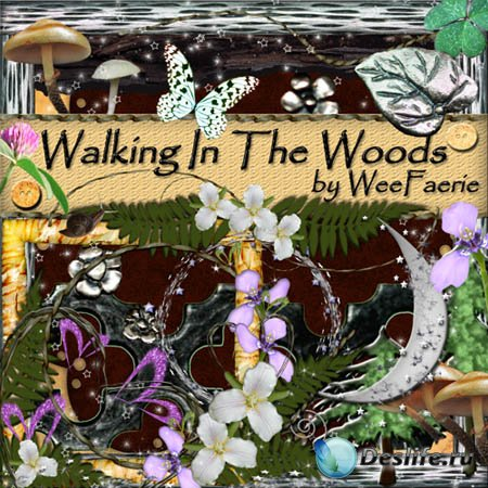 Скрап - набор - Прогулка в лесу (Walking in the wood)