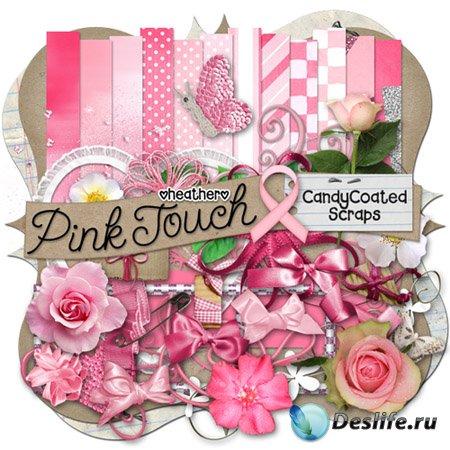 Скрап - набор - Розовое прикосновение (Pink touch)