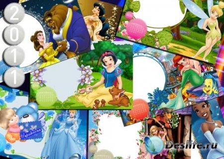 Календарь на 2011 год с Принцессами