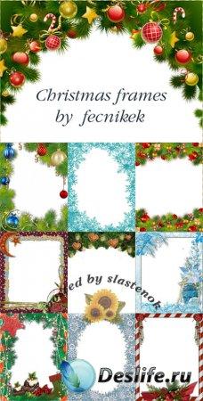 Набор новогодних и рождественских рамок от fecnikek