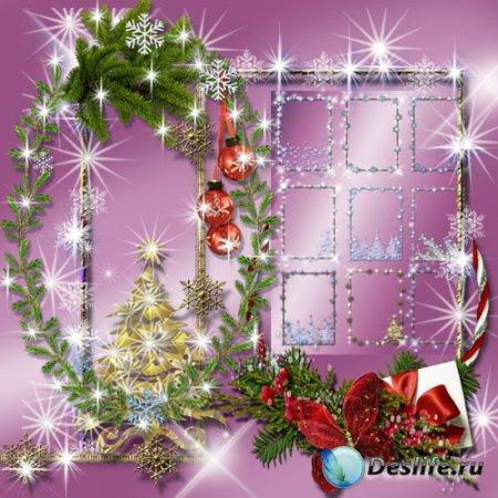 Отличные зимние и новогодние рамки для фотошопа