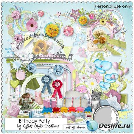 Скрап-набор - Вечеринка по поводу Дня рождения