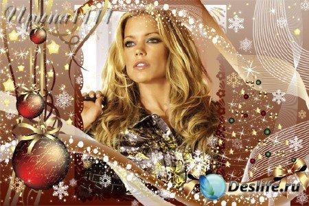 Рамка для фотошопа на 2011 год - Новогодняя тайна