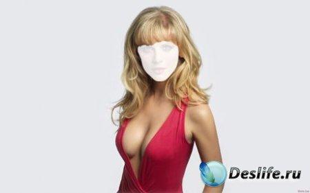 Костюм для Фотошопа - Девушка в красном платье