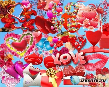 PNG клипарт с прозрачным фоном – День Святого Валентина