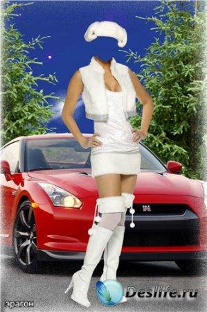 Женский костюм для фотошопа – Девушка в белом