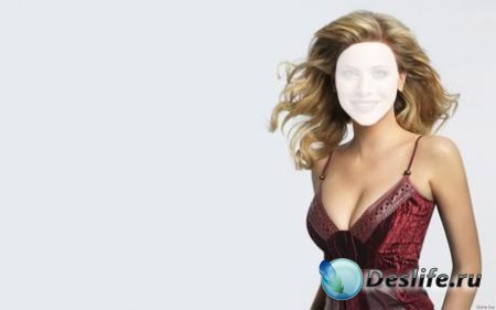 Костюм для Фотошопа - Блондинка в бордовом