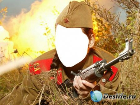 Женский костюм для Фотошопа - Солдатка