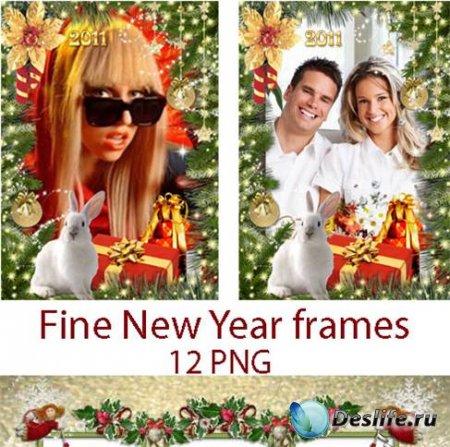 Красивые новогодние рамки для фотографий