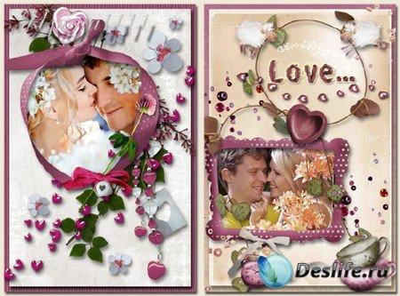 Рамки для фотошопа - Влюбленность