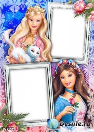 Детская рамочка для фотошопа – Подружки