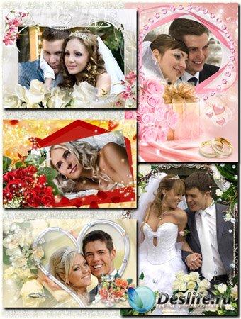 Пять свадебных рамок для фотошопа