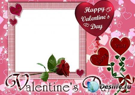 Романтическая рамка - Валентинов день