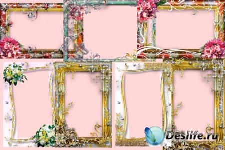 Набор романтических рамок для фотошоп №1