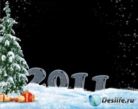 Новогодний футаж 2011 Ёлочка и снежок