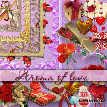 Скрап-набор - Aroma of love