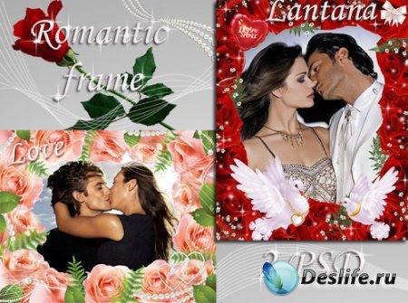 Романтичные рамочки - Цветы любви