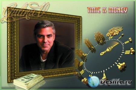 Рамка для фото мужчины - Время-деньги