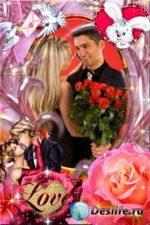 Романтическая рамка для фотошопа – Мой милый зайчик