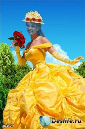 Женский костюм для фотошопа – Солнечная девушка