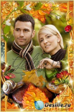 Рамка для фотошопа - Осень золотая