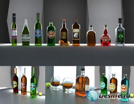 3D модели алкогольных напитков