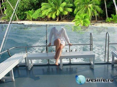 Женский костюм для фотошопа - На берегу рая
