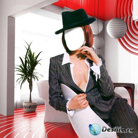Женский костюм для фотошопа - В деловом стиле