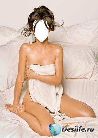 Соблазнительный костюм для фотошопа - Девушка в постели