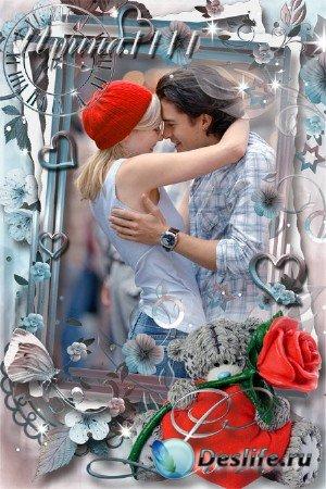 Рамка для фотошопа - Время для любви