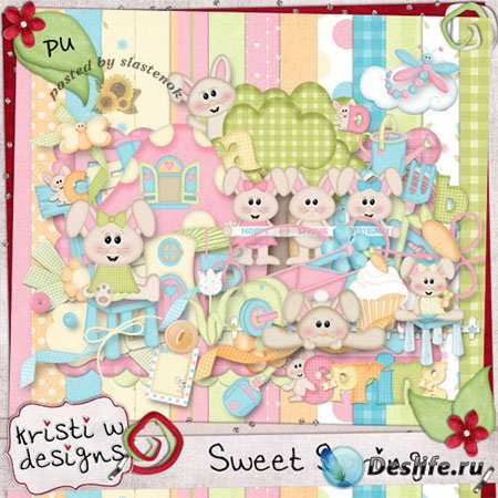 Скрап-набор - Сладкая весна (Sweet spring)